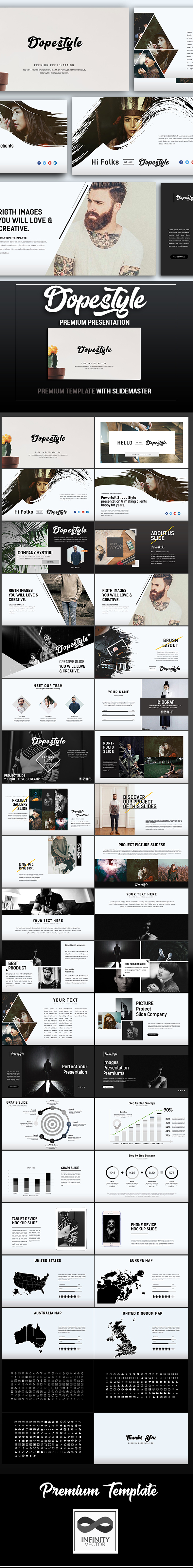 dopestyle premium powerpoint templateinfinity-vector, Powerpoint templates