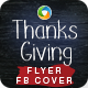 Thanks Giving Day Flyer and Facebook Cover Templates