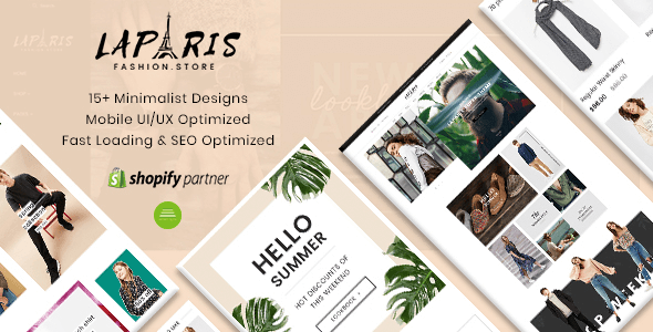 LaParis - Simple Creative Responsive Shopify Theme | Sections Drag & Drop
