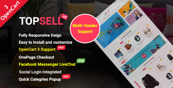 TopSell - Top Multipurpose eCommerce Marketplace OpenCart 3 Theme - OpenCart eCommerce