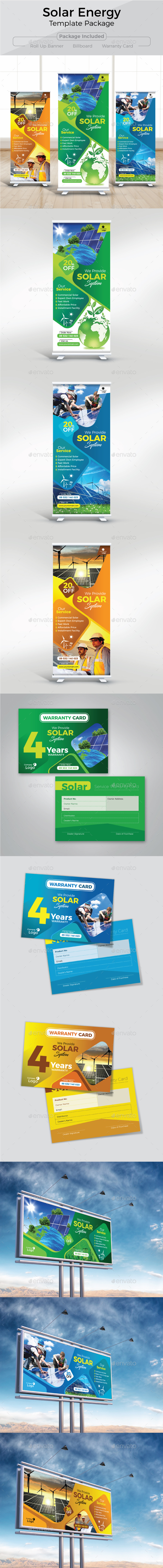 Solar Energy Template Package - Commerce Flyers