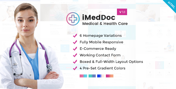 iMedDoc: Medical Center, Health and Wellness HTML5 Template