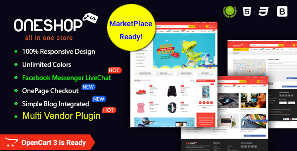 OneShop - Drag & Drop Muti-vendor & Multipurpose Responsive OpenCart 3 Theme - OpenCart eCommerce