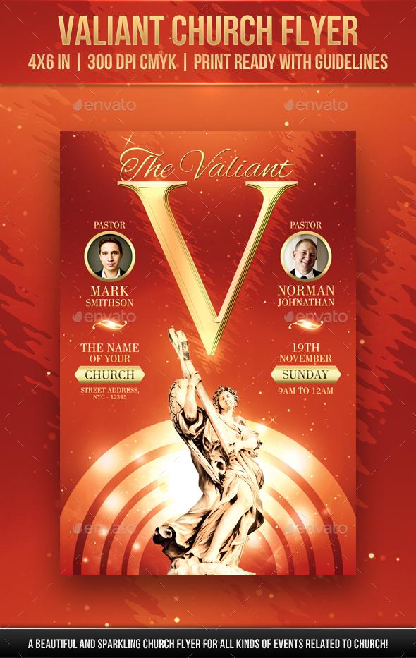 GraphicRiver Valiant Church Flyer 20907691