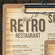 80s Retro Single Page Menu A4 and US Letter - GraphicRiver Item for Sale