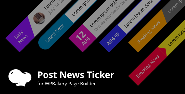 Posts News Tickers for WPBakery page builder (Visual Composer)