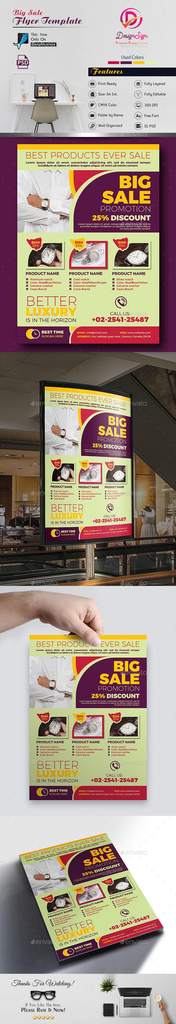 Big Sale Promotion Flyer - Flyers Print Templates