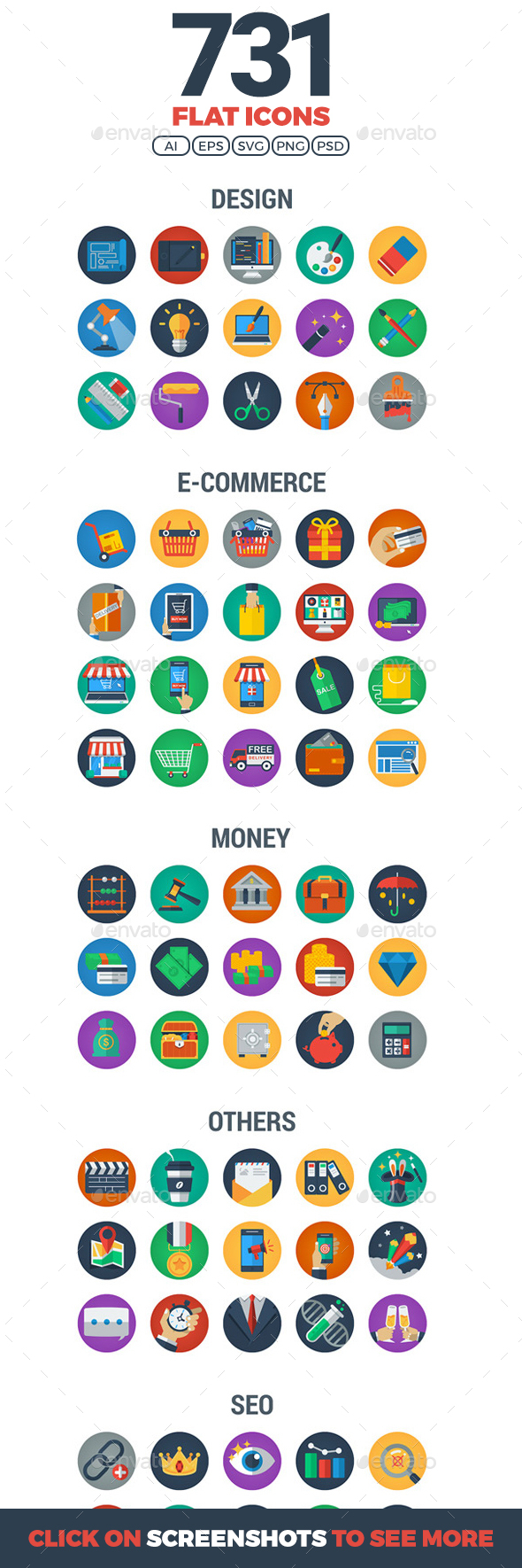 GraphicRiver Flat Icons 20907761