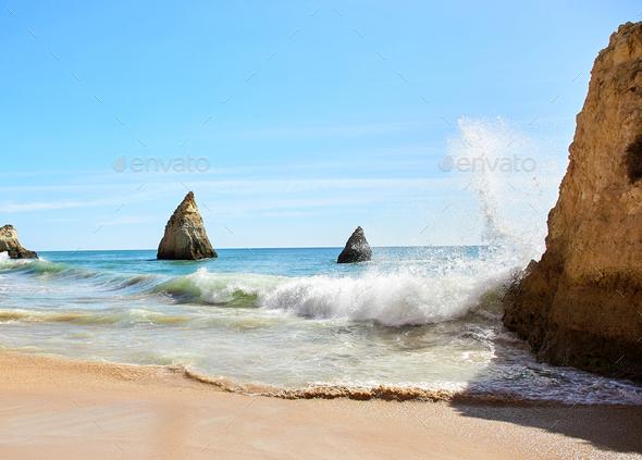 Waves of Atlantic Ocean - Stock Photo - Images