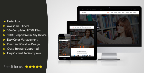 Download Educational HTML Responsive Template