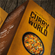 Curry World Retro Trifold Menu A4 and US Letter - GraphicRiver Item for Sale