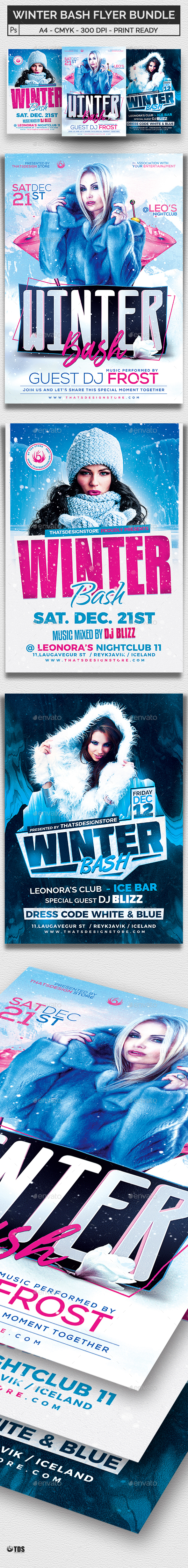 Winter Bash Flyer Bundle - Clubs & Parties Events