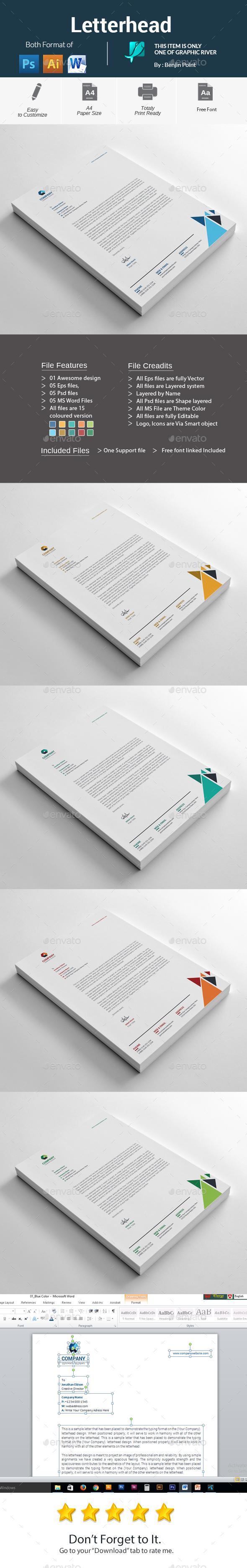 GraphicRiver Letterhead 20908091