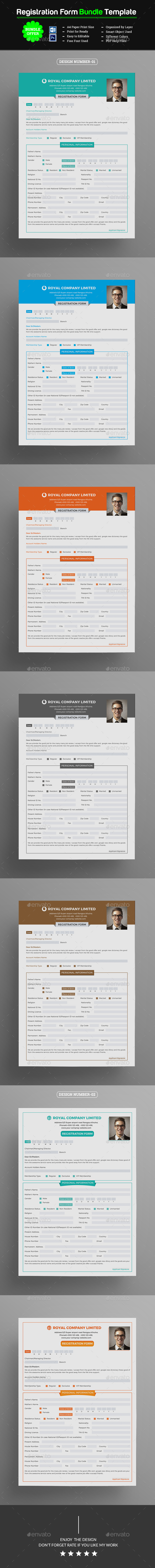 Registration Form Bundle - Miscellaneous Print Templates