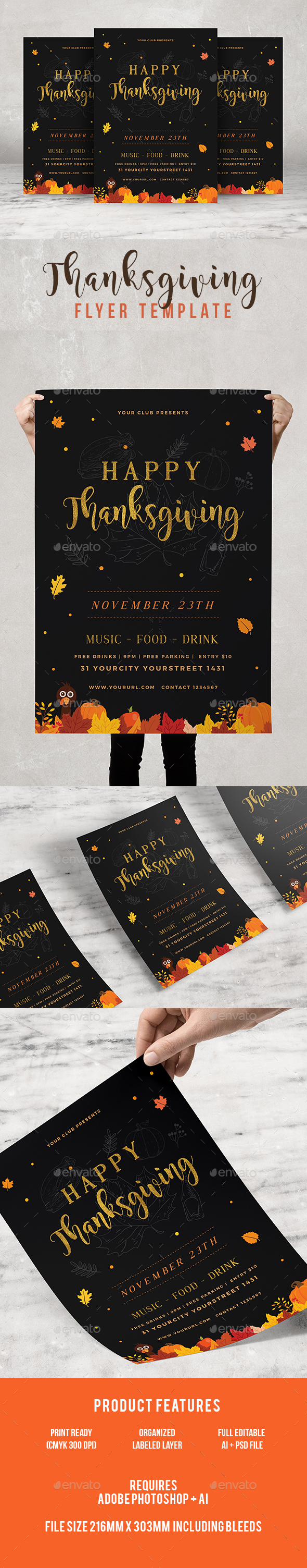 GraphicRiver Thanksgving 20908386