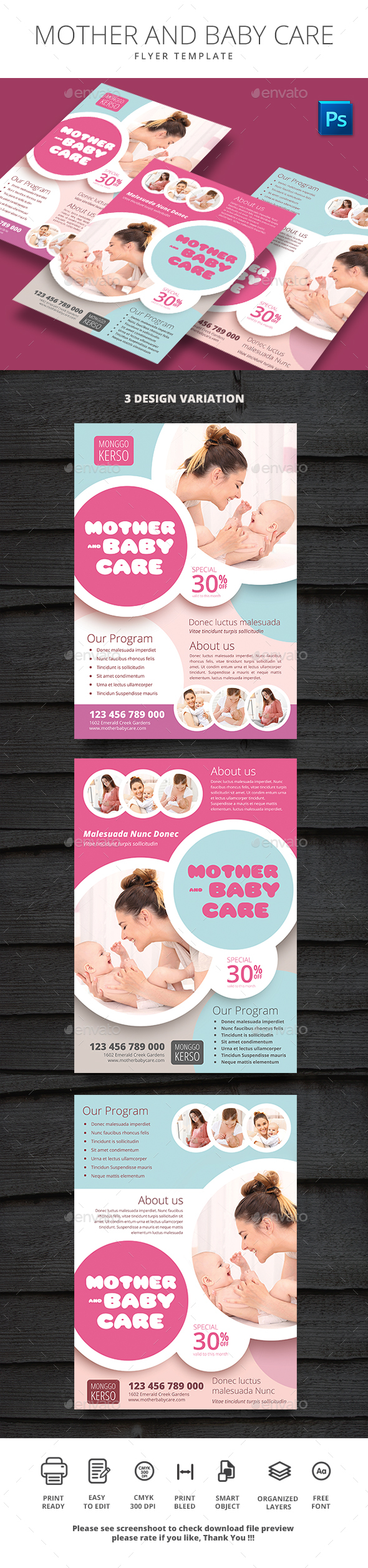 Mother And Baby Care - Flyers Print Templates