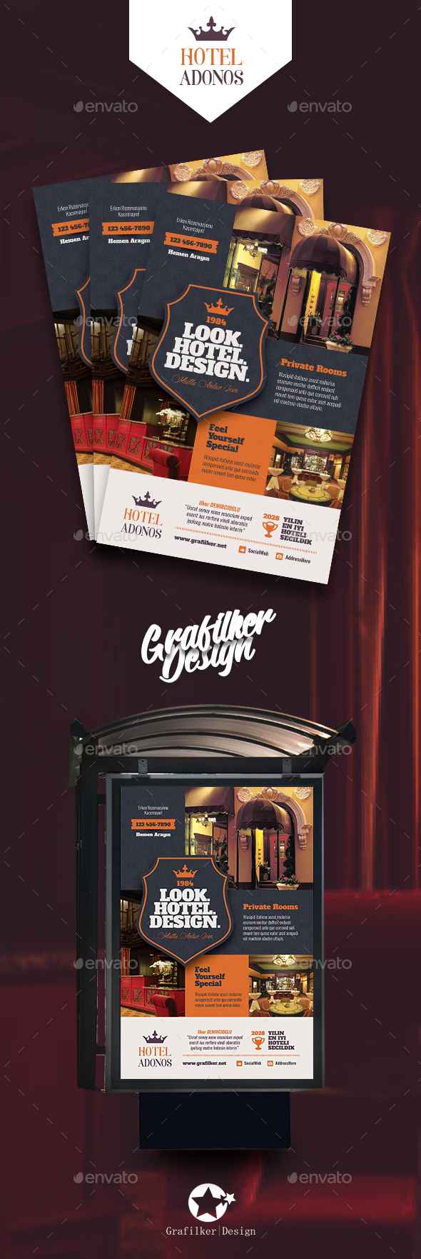 GraphicRiver Hotel Poster Templates 20908437