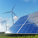 Solar Energy Panels and Wind Turbines - VideoHive Item for Sale
