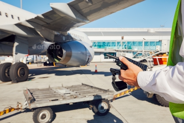 Preparation of the airplane - Stock Photo - Images