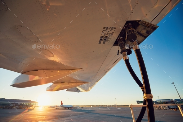 Refueling of the airplane - Stock Photo - Images