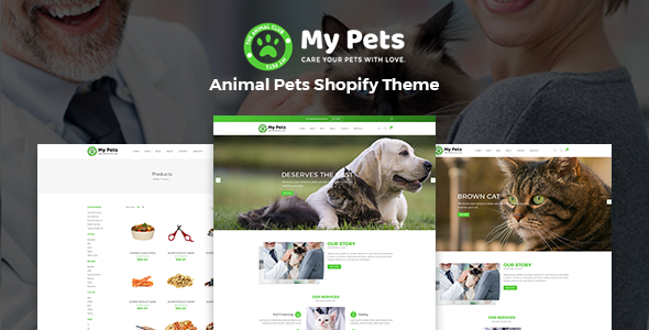 My Pets – Pet Sitter, Pet Shop, Animal Care Shopify Theme