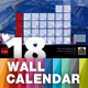 Wall Calendar 2018 with Full Size Photo Background — A3 and Tabloid - GraphicRiver Item for Sale