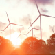 Wind Energy at Sunset - VideoHive Item for Sale