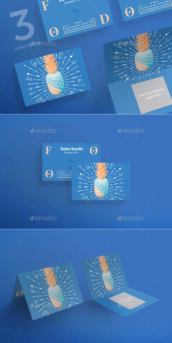 Food Day Business Card - Business Cards Print Templates