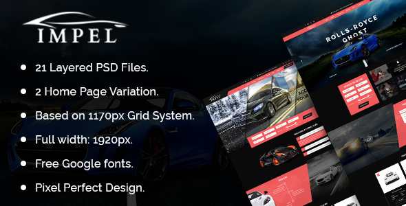 IMPEL Car Dealer PSD Template