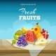 Fruits Concept Vector Background. Food Poster