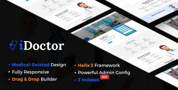 iDoctor - Responsive & Multipurpose Medical Joomla Template With Page Builder - Joomla CMS Themes