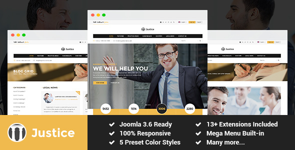 Justice - Attorney and Law Firm Joomla Template - Business Corporate