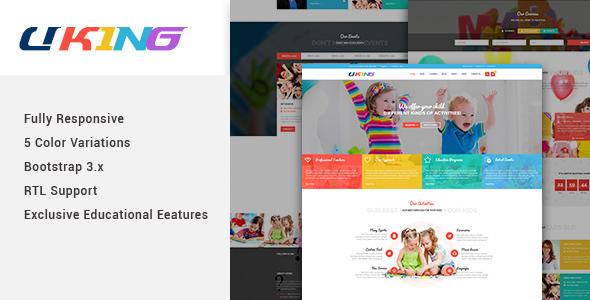 Image of Uking - Responsive Joomla kindergarten Template