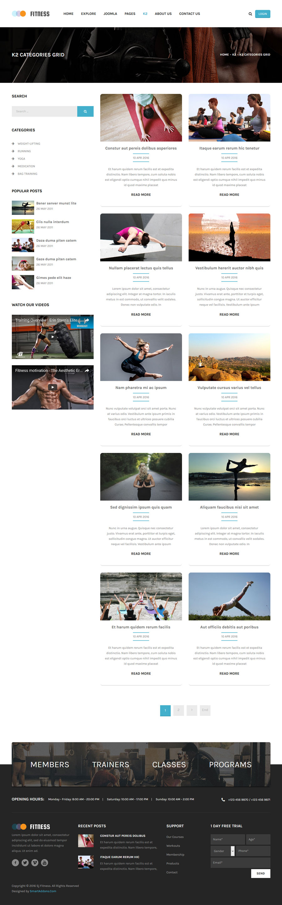 Fitness - Responsive Joomla Yoga Club Template by SmartAddons ...