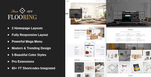 Flooring -  An Ideal Responsive Joomla Template For Interior Stores