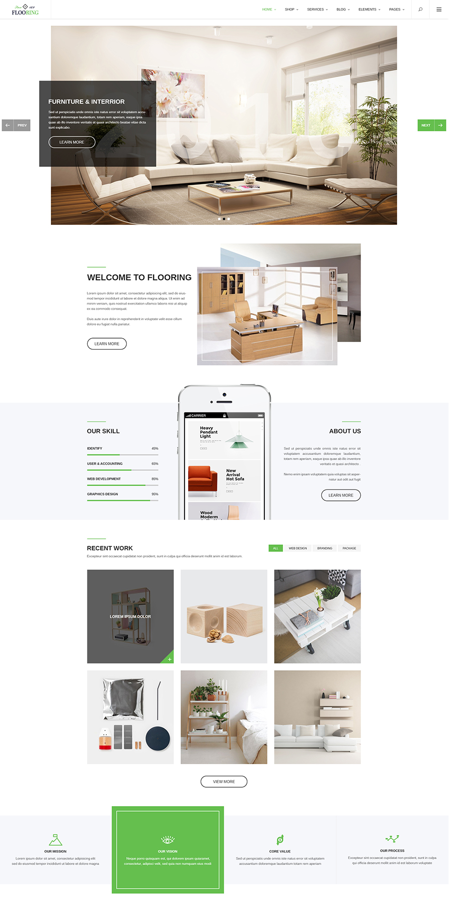 Flooring - An Ideal Responsive Joomla Template For Interior Stores ...