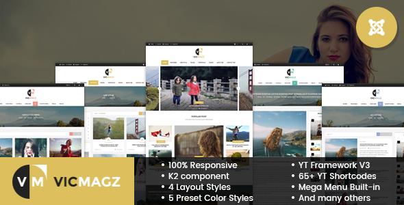 Image of VicMagz - Multipurpose News/Magazine Joomla Template