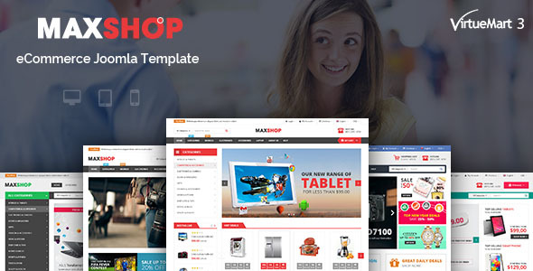 Image of Maxshop - Multipurpose eCommerce Joomla Template
