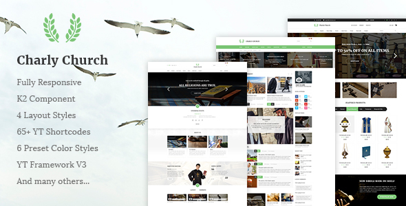 Charly Responsive Church Religious Joomla Theme