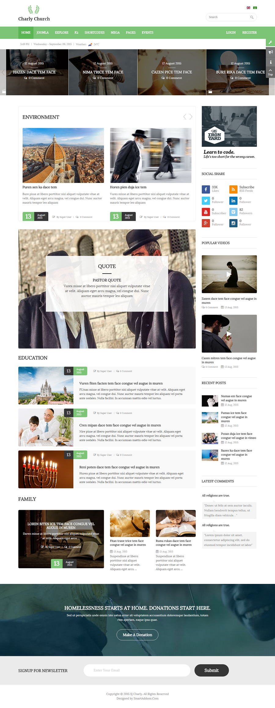 Charly Responsive Churchreligious Joomla Theme By Smartaddons