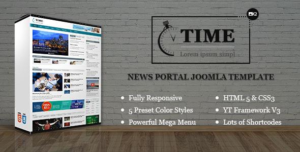 Image of SJ Time - Responsive News Portal Joomla Template