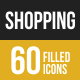 Shopping Filled Low Poly B/G Icons