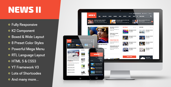News II - Responsive News/Magazine Joomla Template - News / Editorial Blog / Magazine