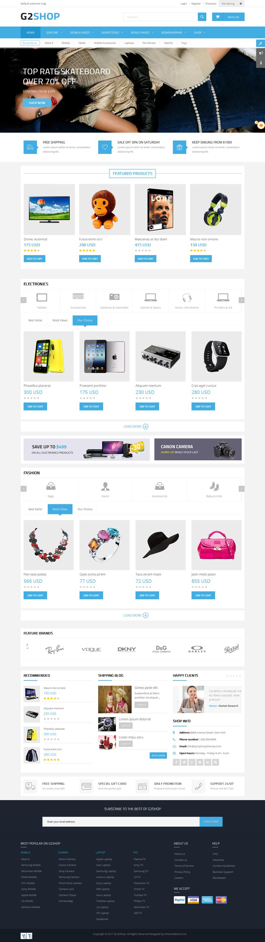 G2Shop - Responsive Ecommerce Joomla Template by SmartAddons ...