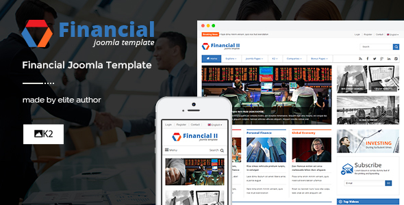 Financial II - Responsive Financial Joomla Theme - News / Editorial Blog / Magazine