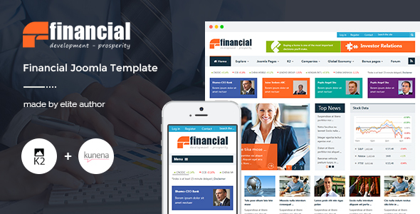 Financial - Responsive Joomla News Template - News / Editorial Blog / Magazine
