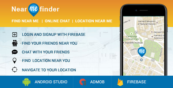 CodeCanyon Near Me App Location Finder & Friend Finder & Chat & Location Navigation 20909116