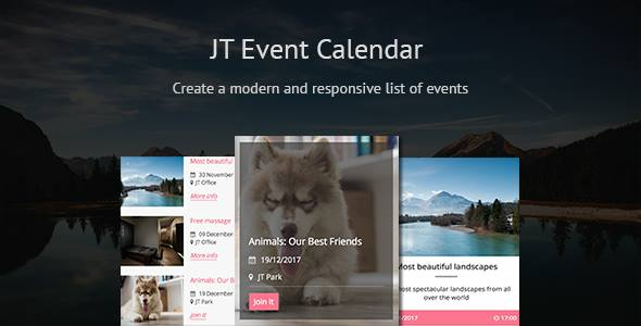 JT Event Calendar - CodeCanyon Item for Sale