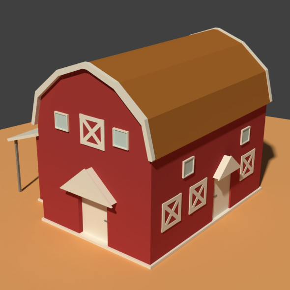 3DOcean Low Poly Cartoony Granary 2 20909131