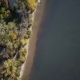 Flying Over the Beautiful Autumn River - VideoHive Item for Sale
